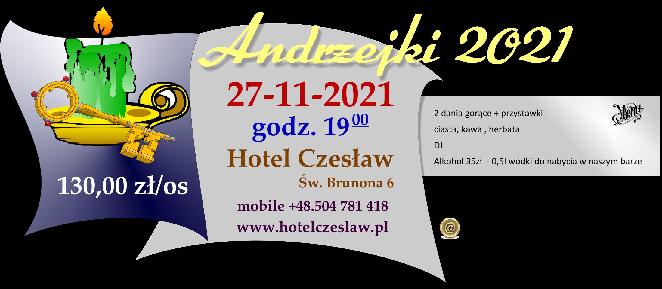 Andrzejki na Mazurach, Hotel Czesław zaprasza do Giżycka