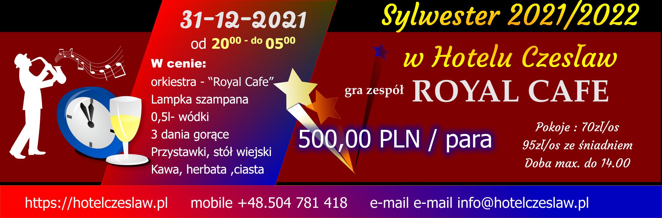 Sylwester 2021/2022 na Mazurach, Hotel Czesław zaprasza do Giżycka
